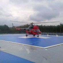 Heliports are a specific category of installation of heating cables in concrete.