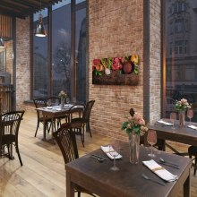 Application of electric heating in a restaurant