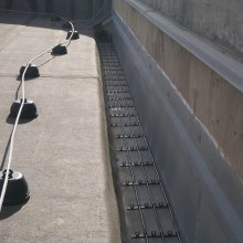 Heating cables prevent snow from accumulating on the roof in places where it is undesirable.
