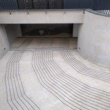 Entrance to the underground garage.
