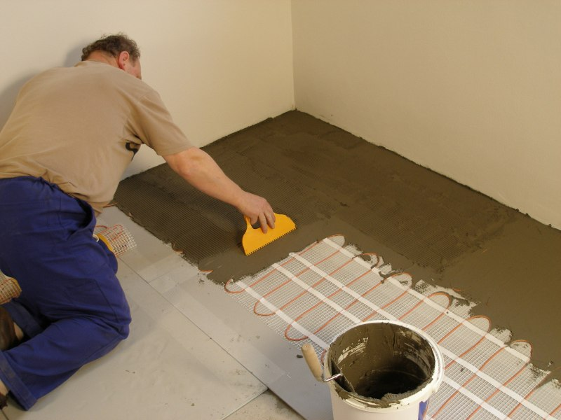 Installation of cable mat with F-BORAD  step 9