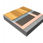 Sectional view of floating floor with insulation STARLON