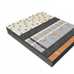 Bodenkonstruktion – Heizmatte mit  Fussbodenisolierung F-BOARD