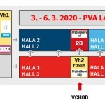 PVA fair site layout with the FENIX exposition in hall 4